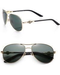 Versace 58mm Aviator Sunglasses - Lyst