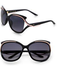 Dior Oversized Swirledtemple Sunglasses - Lyst