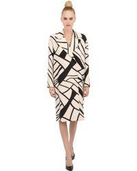 Bottega Veneta Printed Wool Coat - Lyst