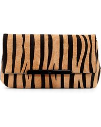Christian Louboutin Rougissime Tiger-Print Calf Hair Clutch Bag - Lyst