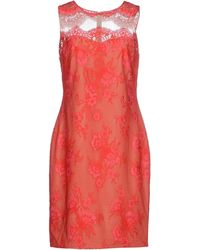 Notte by Marchesa Short Dress red - Lyst