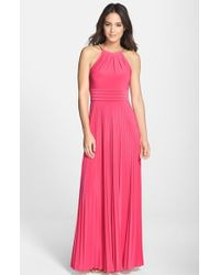 Eliza J Pleated Jersey Maxi Dress - Lyst