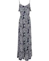 Jane Norman Paisley Print Ruffle Maxi Dress - Lyst