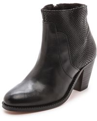 H By Hudson Slade Snake Combo Booties  - Lyst