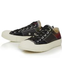 Converse Black Chuck Taylor Tri Panel Low Trainers - Lyst