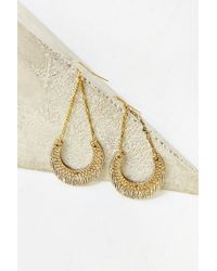 Urban Outfitters Stamped Crescent Drop Earring - Lyst
