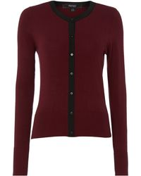 Therapy Plain Cardi with Woven Placket - Lyst