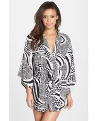 Josie Woodcut Print Happi Coat - Lyst