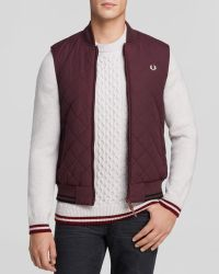 Fred Perry Diamond Quilted Vest - Lyst