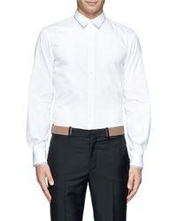 Alexander McQueen Double Layer Collar and Cuff Shirt - Lyst