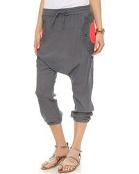 Surf Bazaar - Crochet Harem Pants - Coal/sunset - Lyst