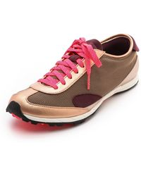 Adidas By Stella Mccartney Track Street Sneakers Rose Goldred Zestfrost - Lyst