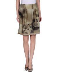 Alberta Ferretti Knee Length Skirt khaki - Lyst