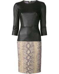Emanuel Ungaro Textured Snake Dress - Lyst