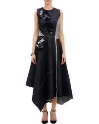 Bottega Veneta Patchwork Denim Dress - Lyst