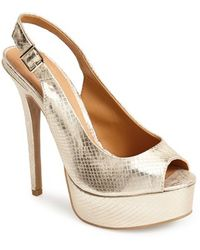 Chinese Laundry 'Abba' Slingback Platform Sandal gold - Lyst