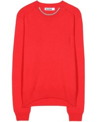 Jil Sander Wool And Cashmere-Blend Sweater - Lyst