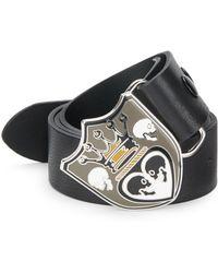 King Baby Studio Crowned Heart Leather Belt black - Lyst