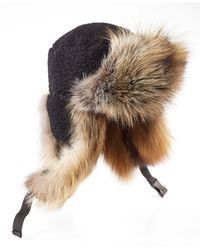 Preen Sky Hat with Shearling and Fox Fur - Lyst