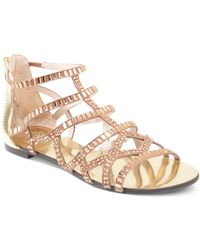 Vince Camuto Emera Gladiator Flat Sandals - Lyst