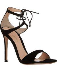 Gianvito Rossi Darcy Double Strap Sandals - Lyst