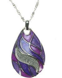 Indulgence Jewellery - Purple Enamel Teardrop Pendant - Lyst