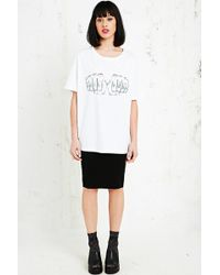 House Of Holland Thug Wife Printed Tee in White - Lyst