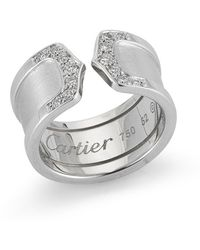 Cartier Pre-owned Double C Decor Ring - Lyst