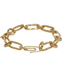 Aurelie Bidermann Hammered Chain Bracelet - Lyst