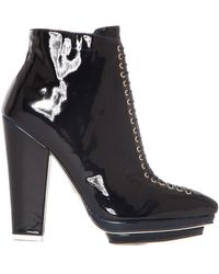 Pixie Market Dario Patent Ankle Boots - Lyst
