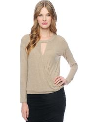 Ella Moss High Neck Surplice Top - Lyst
