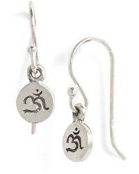 Satya Jewelry | 'om' Engraved Drop Earrings | Lyst