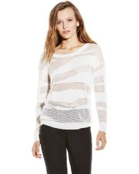 Vince Camuto Cutout Sweater - Lyst