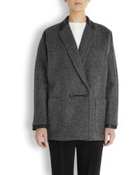 Rag & Bone - Primrose Grey Wool Blend Coat - Lyst