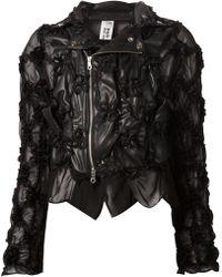 Comme Des Garçons Noir Kei Ninomiya Appliqué Detailing Biker Jacket - Lyst