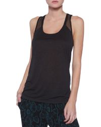 Bella Luxx Seamed Lace Muscle Tank - Lyst