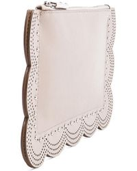 BCBGMAXAZRIA Scalloped Leather Clutch - Lyst