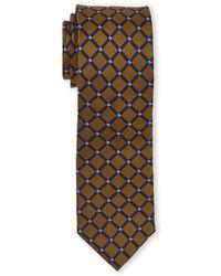 English Laundry - Gold & Navy Diamond Tie - Lyst