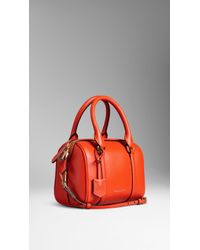Burberry The Small Alchester In Leather orange - Lyst