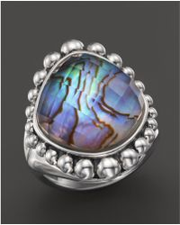 Lagos - Sterling Silver Maya Abalone Doublet Dome Ring - Lyst