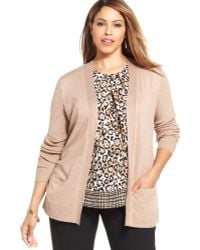 Jones New York Collection Plus Size Openfront Cardigan - Lyst
