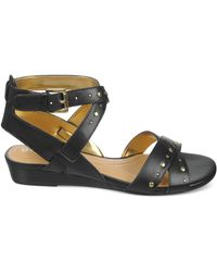 Naturalizer Black Jester Sandals - Lyst