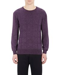 Orley - Men's Windowpane-plaid Cable-knit Jumper - Lyst