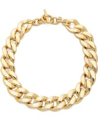 Michael Kors Curb Chain Toggle Necklace Gold - Lyst