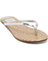 DV by Dolce Vita Flip Flop Sandals - Derika Metallic - Lyst