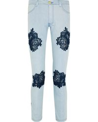 House of Holland - Lacedetailed Midrise Skinny Jeans - Lyst