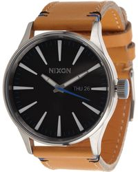 Nixon The Sentry Leather - The Naturel Collection - Lyst