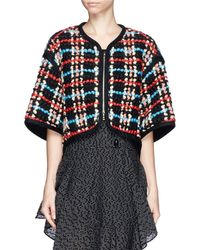 Chloé Cropped Wool Plaid Bolero - Lyst