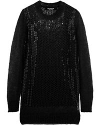 Junya Watanabe Sequined Mohairblend Sweater - Lyst