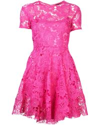 House Of Holland Lace Boater Dress - Lyst